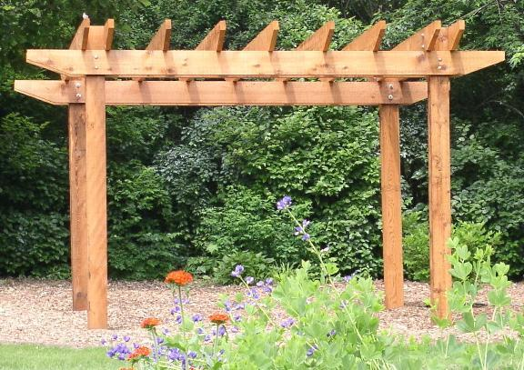 Western red cedar pergolas for Japanese pergola kits