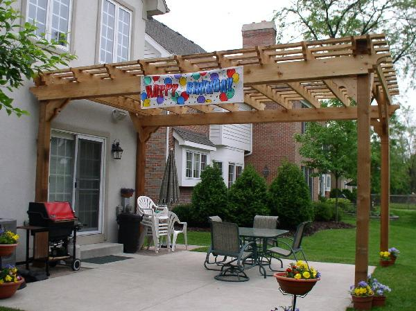 Pergola Arbors Attached Pergola Western Red Cedar Pergolas