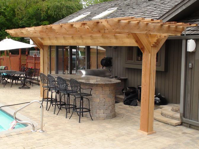 10X20 (2X10 Series) Outdoor Kitchen/Bar Area
