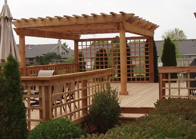 14 X 16 (2X10 Series) Pergola - Pergola, Arbors, Deck And Patio, Western Red Cedar Pergolas