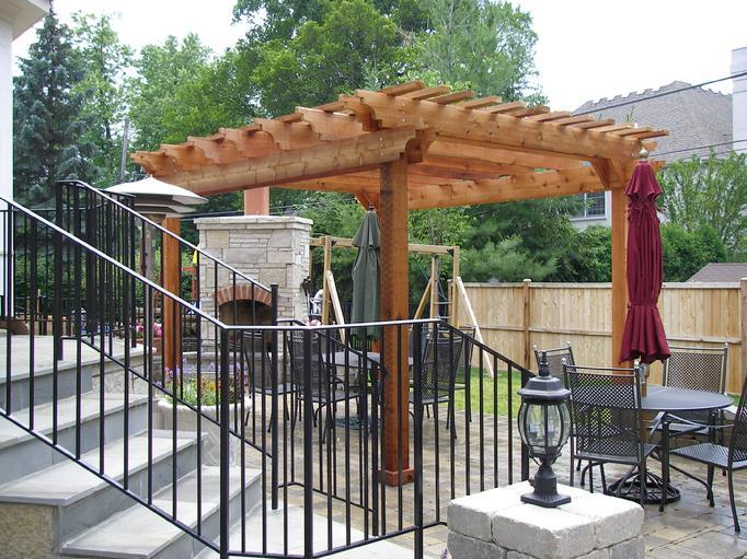 pergola arbors gazebos popular western red cedar pergolas. Black Bedroom Furniture Sets. Home Design Ideas