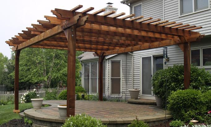 pergola arbors deck and patio western red cedar pergolas. Black Bedroom Furniture Sets. Home Design Ideas