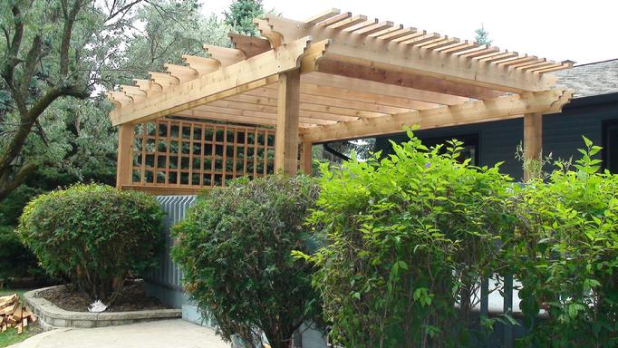 Pergola, Arbors, Deck and Patio, Western Red Cedar Pergolas