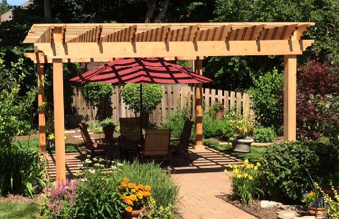 pergola arbors gazebos western red cedar pergolas. Black Bedroom Furniture Sets. Home Design Ideas