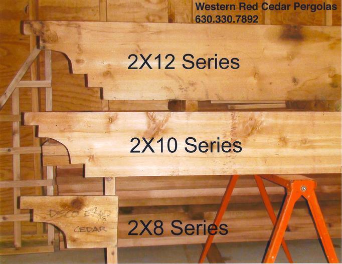 2X8 Series 2X10 2X12 Pergola Joist Header Profiles