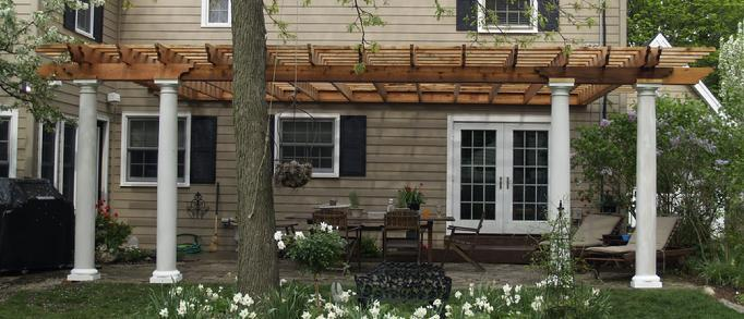 attached pergola designs pictures
